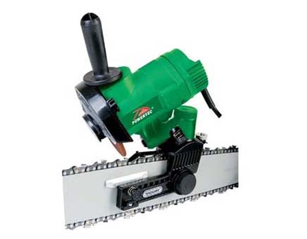 The electric Chain Saw Grinder is capable of 12V DC operation as well as 230V AC